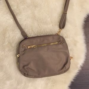 Travelon | Taupe and Gold Crossbody